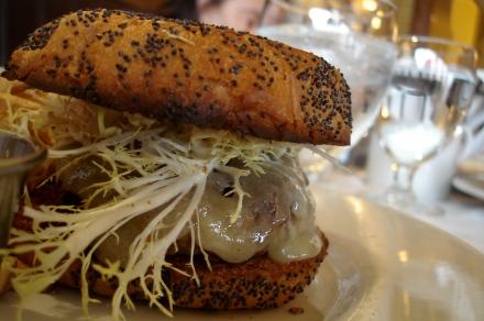 Trafalgars Bistro Lamb Burger