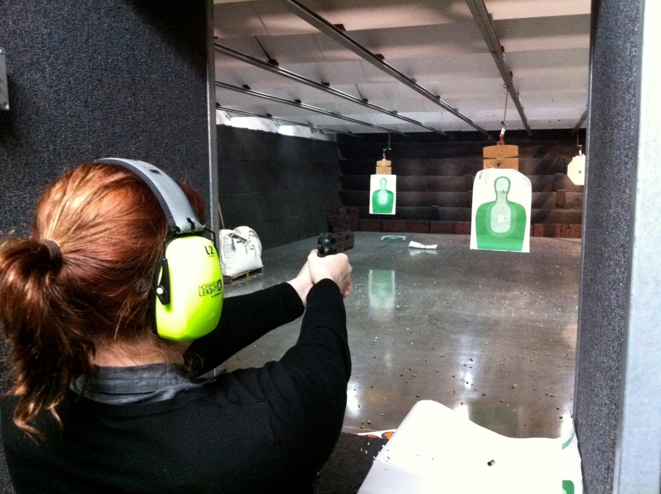 At the shooting range