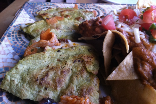 La Casita Chorizo Quesadillas