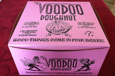 Good Things Come in Pink Boxes Voodoo Doughnuts